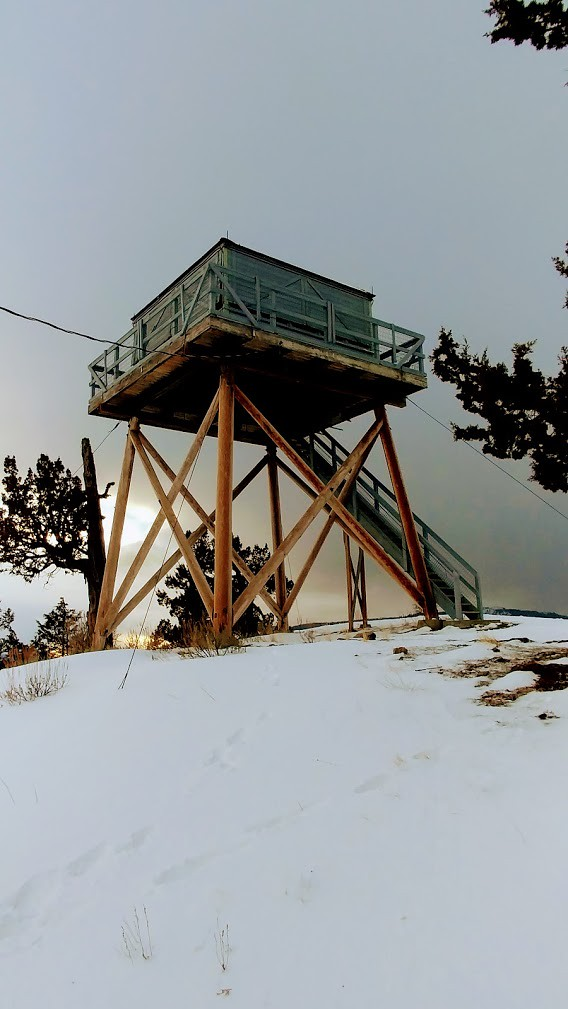 20171215_FallMountainLookout_SDBurton_Fall Mountain Lookout Winter, Malheur National Forest.