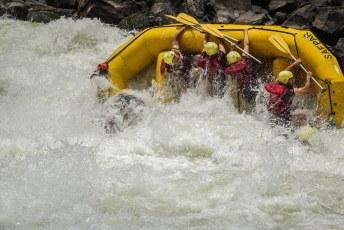 En zo ging het eigenlijk de hele tijd door, 21 rapids lang.