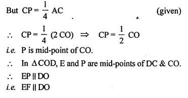 ML Aggarwal Class 9 Solutions for ICSE Maths Chapter 11 Mid Point Theorem    8c