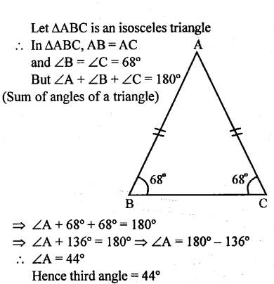 Selina Concise Mathematics Class 6 ICSE Solutions - Triangles (Including Types, Properties and Constructions) -1