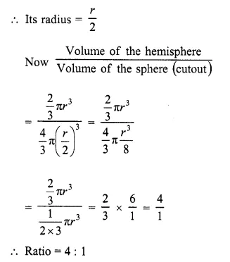 RD Sharma Class 10 Solutions Chapter 14 Surface Areas and Volumes  VSAQS 12