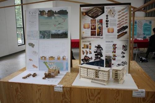 參賽者作品於元智六館一樓展出