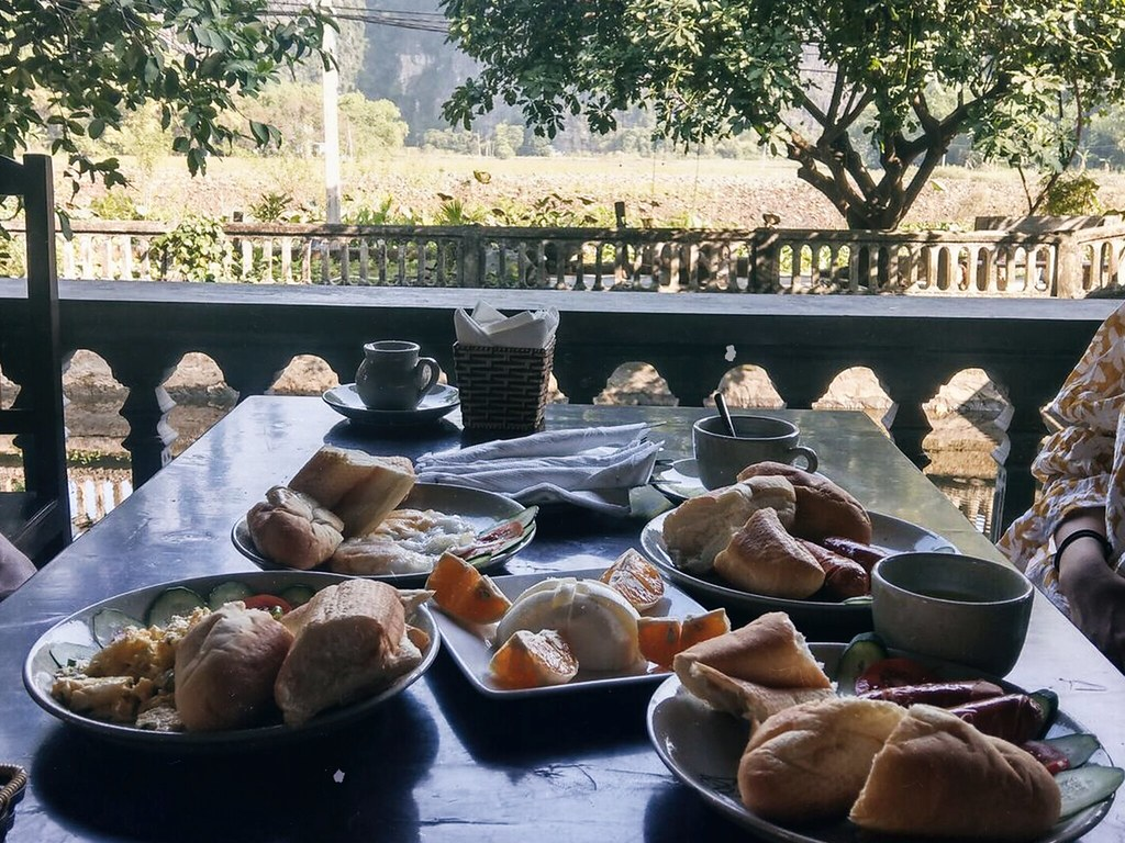 breakfast at the NInh Binh retreat yum
