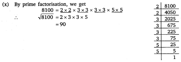 NCERT Solutions for Class 8 Maths Chapter 6 Squares and Square Roots 8