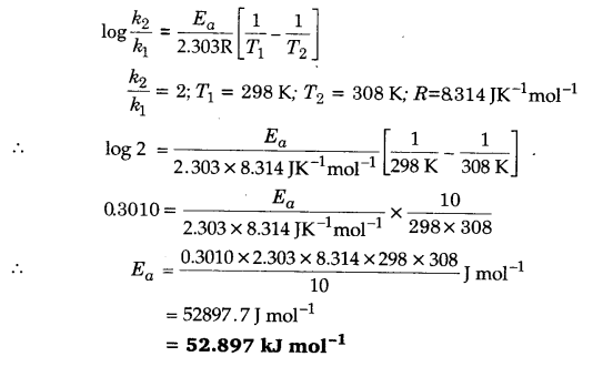 UP Board Solutions for Class 12 Chapter 4 Chemical Kinetics Q.8