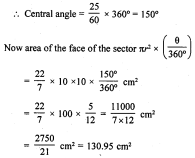RD Sharma Class 10 Solutions Chapter 13 Areas Related to Circles Ex 13.2 - 16