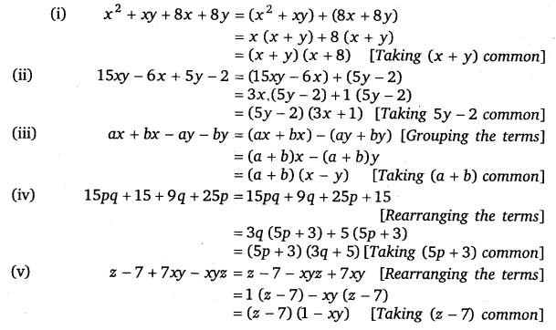 NCERT Solutions for Class 8 Maths Chapter 14 Factorisation 5