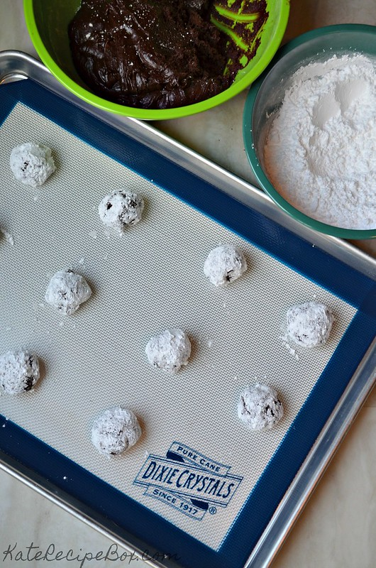 Chocolate Orange Crinkle Cookies 1