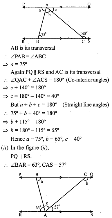 Selina Concise Mathematics Class 6 ICSE Solutions - Properties of Angles and Lines (Including Parallel Lines)-r3s.