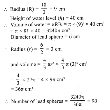 RD Sharma Class 10 Solutions Chapter 14 Surface Areas and Volumes  RV 29