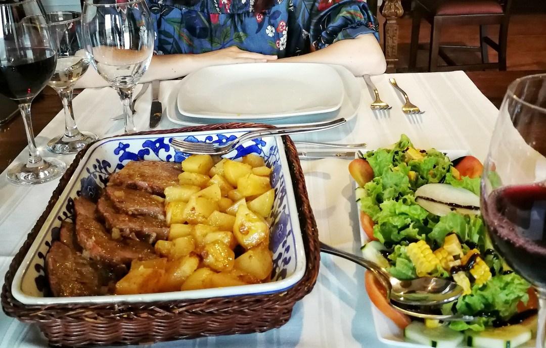 cenare in una quinta in portogallo