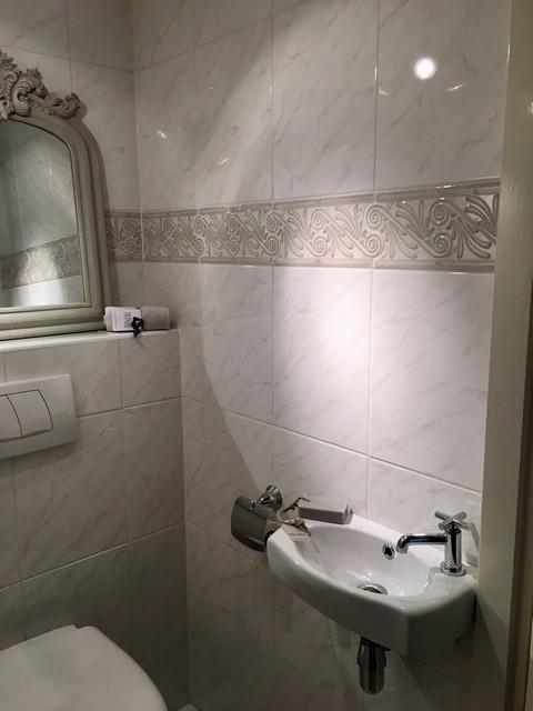 Kuifspiegel toilet landelijke stijl