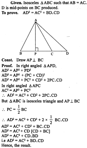 ML Aggarwal Class 9 Solutions for ICSE Maths Chapter 12 Pythagoras Theorem     26