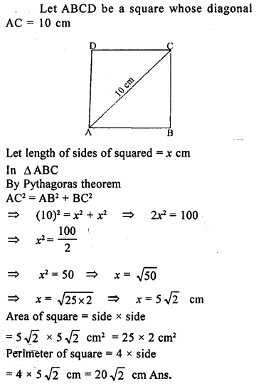 ML Aggarwal Class 9 Solutions for ICSE Maths Chapter 12 Pythagoras Theorem     13