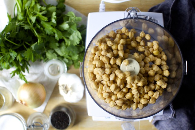 soaked chickpeas and everything else