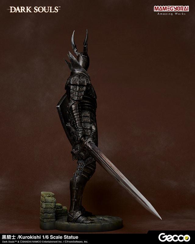 氣勢十足的新人殺手!Gecco《黑暗靈魂 DARK SOULS》黑騎士 1/6比例雕像(黒騎士 1/6スケール スタチュー)   玩具 ...