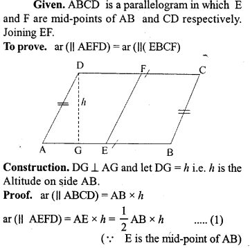 ML Aggarwal Class 9 Solutions for ICSE Maths Chapter 14 Theorems on Area     1