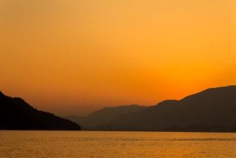 zonsondergang bij Miyajima Japan
