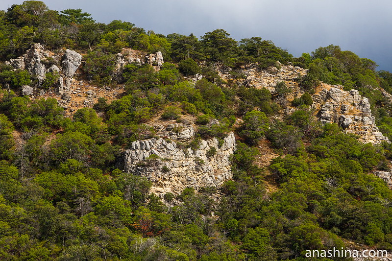 Скалы на мысу Мартьян, Крым
