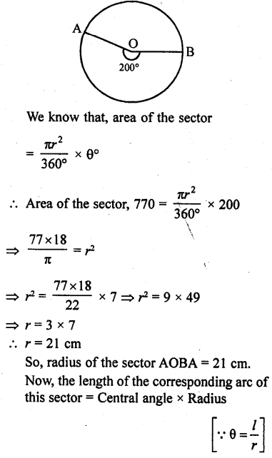 RD Sharma Class 10 Solutions Chapter 13 Areas Related to Circles Ex 13.2 - 18