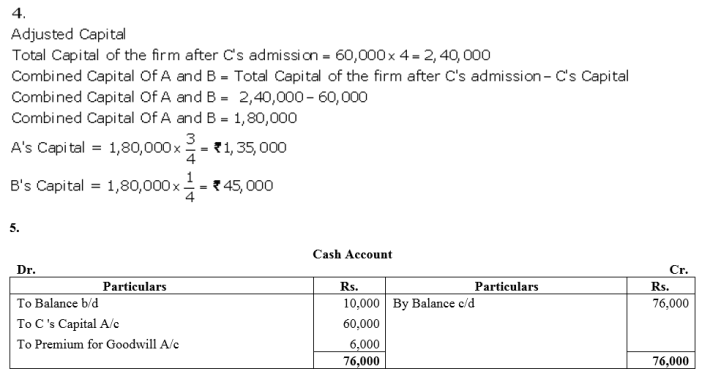 TS Grewal Accountancy Class 12 Solutions Chapter 4 Admission of a Partner Q81.3