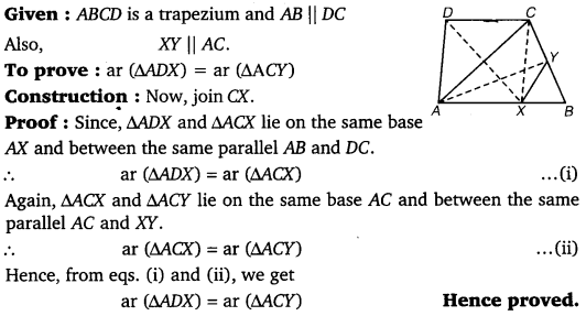 NCERT Solutions for Class 9 Maths Chapter 9 Area of parallelograms and Triangles 28