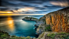 Sunset on South stack, smooth
