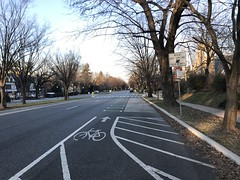 View of Roland Avenue Cycle Track towards Upland Road, Baltimore, MD 21210