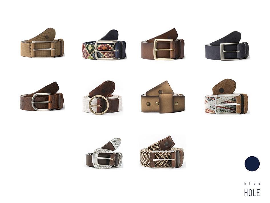 Los modelos de cinturones para hombre de blue hole hechos en España en piel de curtición italiana