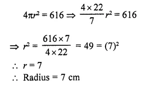 RD Sharma Class 10 Solutions Chapter 14 Surface Areas and Volumes  VSAQS 22