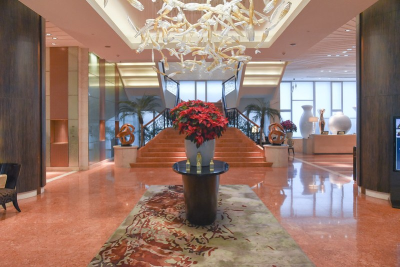 lobby of fairmont makati