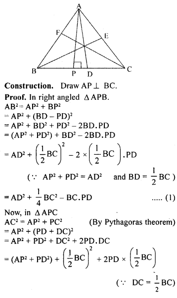ML Aggarwal Class 9 Solutions for ICSE Maths Chapter 12 Pythagoras Theorem     22a
