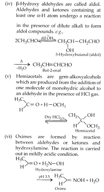 NCERT Solutions for Class 12 Chemistry Chapter 12 Aldehydes, Ketones and Carboxylic Acids e1A