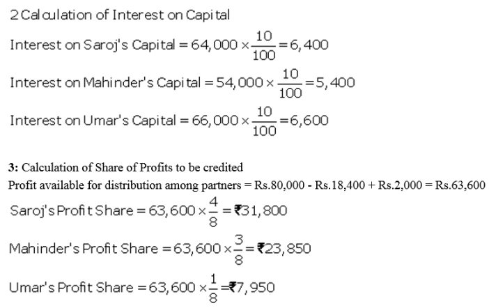 TS Grewal Accountancy Class 12 Solutions Chapter 1 Accounting for Partnership Firms - Fundamentals Q73.1