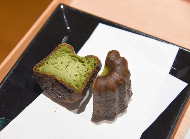 matcha canele at heiankyo in taipei