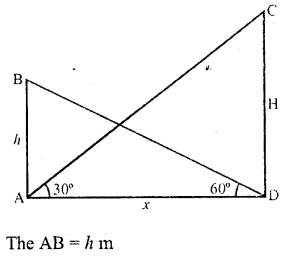 RD Sharma Class 10 Solutions Chapter 12 Heights and Distances MCQS - 15a