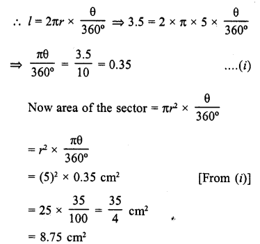 RD Sharma Class 10 Solutions Chapter 13 Areas Related to Circles VSAQS - 6