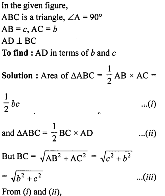 ML Aggarwal Class 9 Solutions for ICSE Maths Chapter 12 Pythagoras Theorem     ch6a