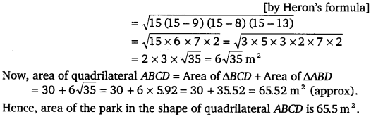 NCERT Solutions for Class 9 Maths Chapter 12 Heron's Formula 10