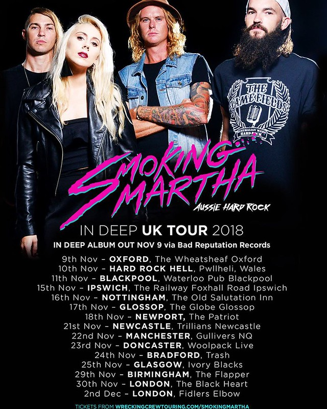 Smoking Martha UK Tour