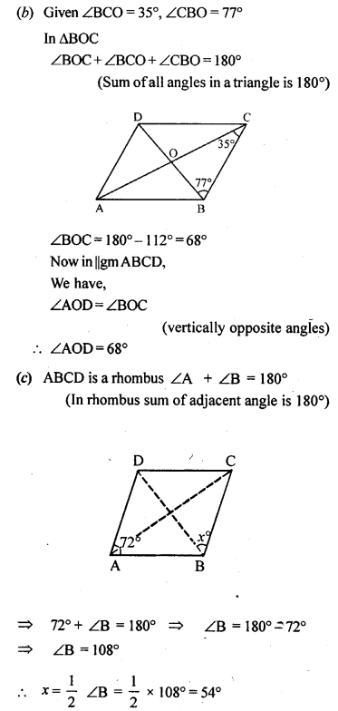 ML Aggarwal Class 9 Solutions for ICSE Maths Chapter 13 Rectilinear Figures  ex 4b