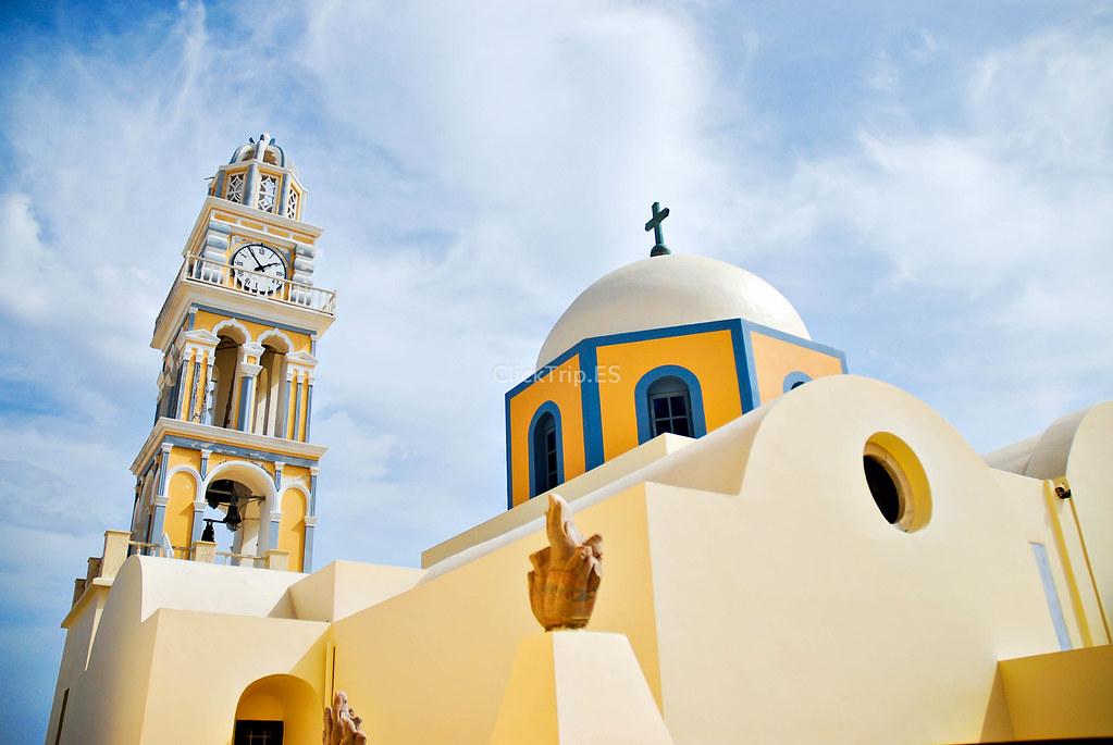 Catedral católica de San Juan Bautista de Fira | Santorini | Islas Griegas | Grecia | ClickTrip