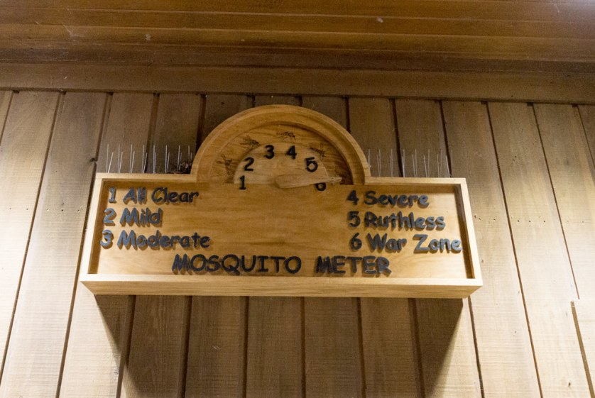 Mosquito Meter at Congaree National Park, South Carolina. The Day of My Visit, it Was