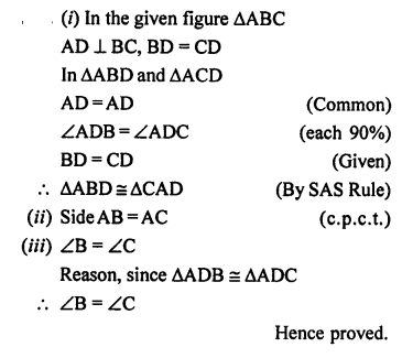 Selina Concise Mathematics class 7 ICSE Solutions - Congruency Congruent Triangles-ex15a