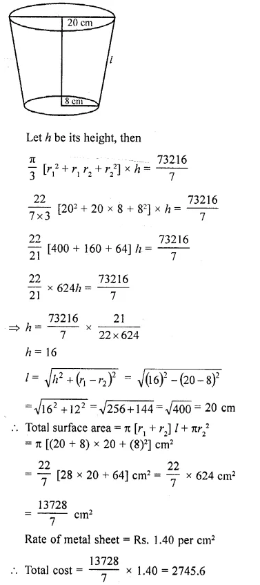 RD Sharma Class 10 Solutions Chapter 14 Surface Areas and Volumes Ex 14.3 17