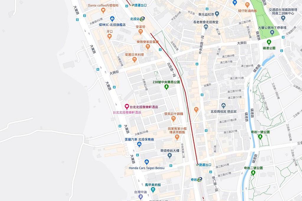Aloft Taipei Beitou Map
