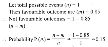 RD Sharma Class 10 Chapter 13 Probability