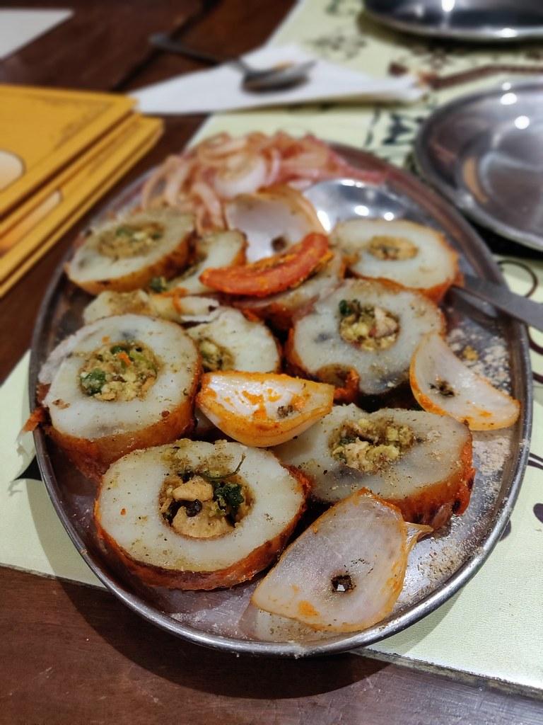 Stuffed Potato Tandoori Bharawan Dhaba Amritsar India