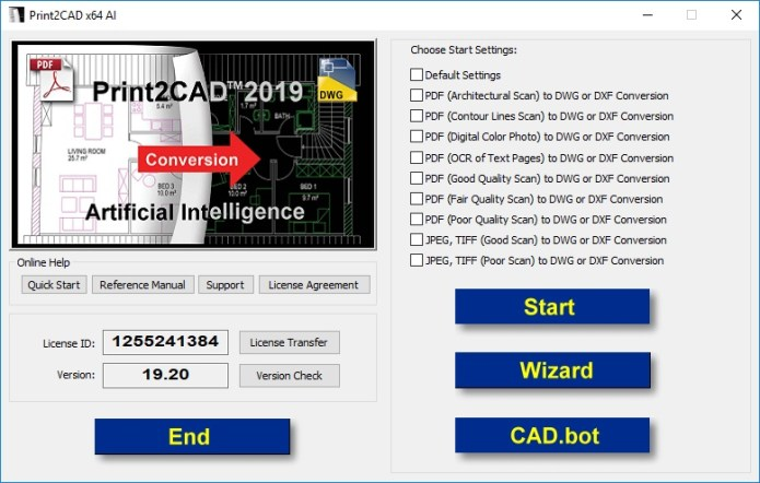 Working with Print2CAD 2019 v19.20 full license