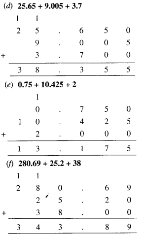 NCERT Solutions for Class 6 Maths Chapter 8 Decimals 37